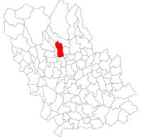 Pozitia orasului Slănic in cadrul judetului Prahova