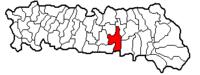 Pozitia orasului Slobozia in cadrul judetului Ialomița