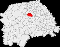 Pozitia orasului Solca in cadrul judetului Suceava