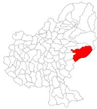 Pozitia orasului Sovata in cadrul judetului Mureș