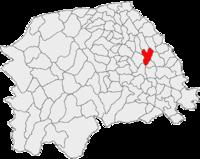Pozitia orasului Suceava in cadrul judetului Suceava