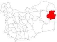 Pozitia orasului Sulina in cadrul judetului Tulcea