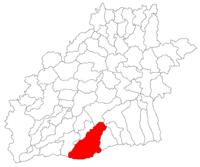 Pozitia orasului Tălmaciu in cadrul judetului Sibiu