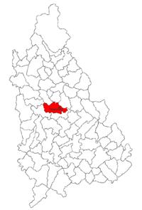 Pozitia orasului Târgoviște in cadrul judetului Dâmbovița
