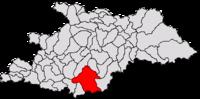 Pozitia orasului Târgu Lăpuș in cadrul judetului Maramureș