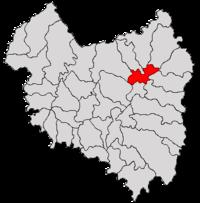 Pozitia orasului Târgu Secuiesc in cadrul judetului Covasna