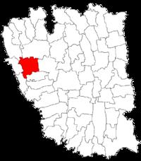 Pozitia orasului Tecuci in cadrul judetului Galați