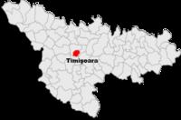 Pozitia orasului Timișoara in cadrul judetului Timiș