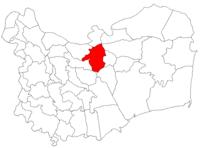 Pozitia orasului Tulcea in cadrul judetului Tulcea