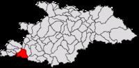 Pozitia orasului Ulmeni in cadrul judetului Maramureș