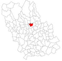 Pozitia orasului Vălenii de Munte in cadrul judetului Prahova
