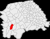 Pozitia orasului Vatra Dornei in cadrul judetului Suceava