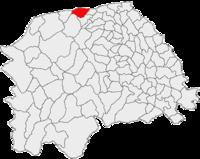 Pozitia orasului Vicovu de Sus in cadrul judetului Suceava