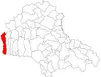 Pozitia orasului Victoria in cadrul judetului Brașov