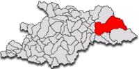 Pozitia orasului Vișeu de Sus in cadrul judetului Maramureș