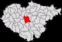 Pozitia orasului Zalău in cadrul judetului Sălaj