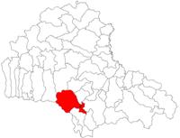 Pozitia orasului Zărnești in cadrul judetului Brașov