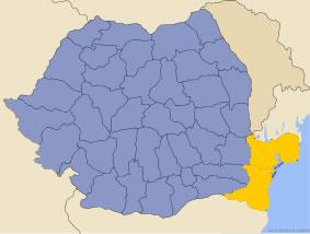 Harta regiunii Dobrogea
