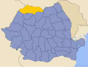 Harta regiunii Maramureș