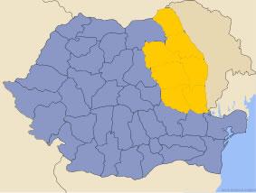 Harta regiunii Moldova